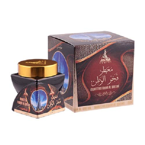 HAMIDI MUATTAR FAKHR AL WATAN BAKHOOR 24 Gram Incense by Hamidi Home Fragrance Natural Hand Dipped Best Wood Scent Use with Incense Burner - Not Included