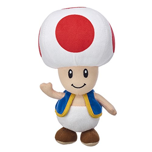 Super Mario-Kong-Luigi-Toad-Yoshi, Peluche, Peluches, 5 personnages Disponibles! (Toad :32cm)