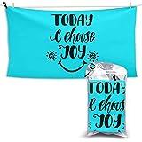 XCNGG Toallas de baño de secado rápido Toallas de baño para el hogar Toallas Quick Dry Bath Towel, Absorbent Soft Beach Towels, Today Choose Joy for Camping, Backpacking, Gym, Travelling, Swimming,Yog