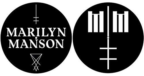 Marilyn Manson 'Logo/Cross' Turntable Slipmat Set