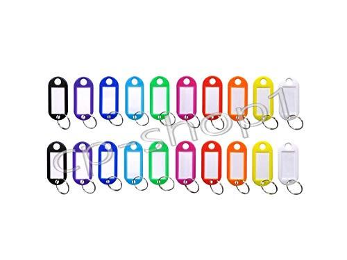 crispi Schlüsselschilder zum Beschriften - Schlüsselanhänger - 20 Stück - Bunt