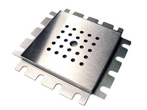 Special Parts Siphon de sol en acier inoxydable Cadre de montage 150 x 150 encastrement dans le carrelage Bonde douche bain