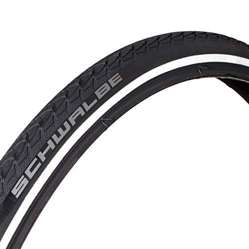 Schwalbe Pneumatico 24x1.00 (25-540) Marathon Plus Nero Rigido Neumáticos para Bicicleta, Adultos Unisex, Negro/Reflex, 24 x 1