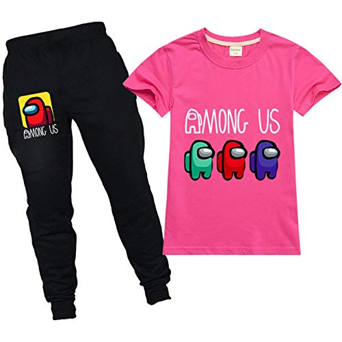 Youth Among Us Pullover Hoodie and Sweatpants Suit for Boys Girls 2 Piece Outfit Fashion Clothes Set