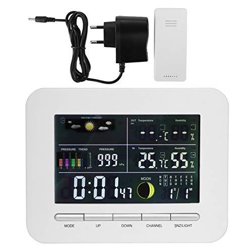 Eosnow Medidor de Temperatura de Humedad, Conveniente multifunción, Doble Fuente de alimentación, higrómetro Interior, termómetro para Invernadero, Bodega, sótano