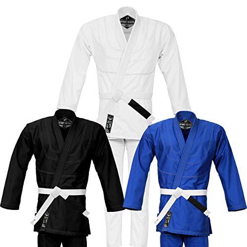 Ultra Lite BJJ Kimono Gi Uniform - Brazilian Jiujitsu - Very Light Weight 100% Cotton 10oz Canvas (White, A-4)