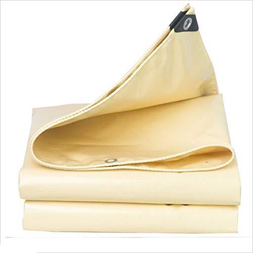 QX Pengbu Iaizi afdekzeil tegen regen, dik zonne-weefsel, waterdicht buiten, isolatiestof, beige, 0,5 mm
