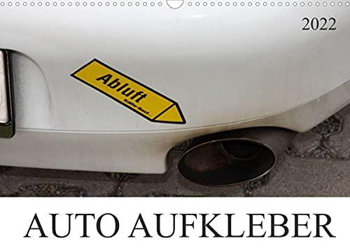 AUTO AUFKLEBER (Wandkalender 2022 DIN A3 quer)