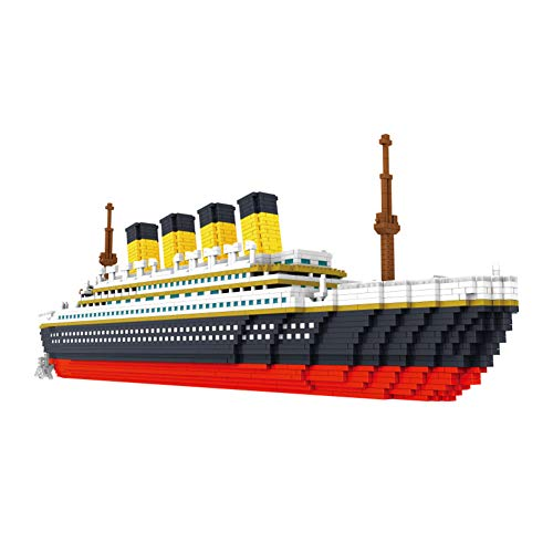 DyAn Titanic Model Building Blocks DIY Building Bricks Juguetes Educativos Juguetes para Niños Niños Y Niñas Regalos De Fiesta De Cumpleaños Nano Bricks Blocks Juguete Ensamblado