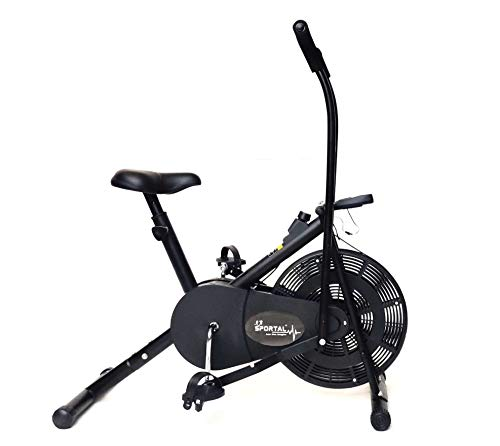 SPORTAL Air Bike Exercise Home Gym Cycle | Best Cardio Fitness Machine for Weight Loss.