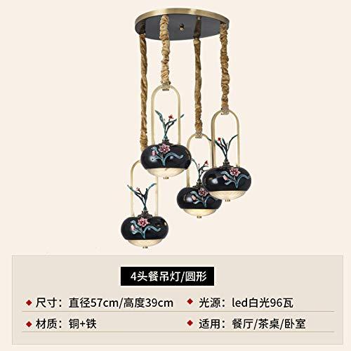 Plafondlamp, plafondlamp, plafondlamp, plafondverlichting, Chinese kroonluchter, driekoppen, restaurant, lamp rechthoekig, 3 koppen, 4 bar, tafellamp, Chinese stijl, creatieve kroonluchter