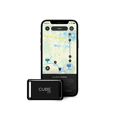 Cube GPS Tracker Real Time Tracking of Cars Dogs Pets Kids Motorcycles Small Portable Tracking Device Monthly Subscription Required