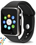 snowpack Genuine A1 Smart Watch Phone Camera SIM Card Pedometer Men Women Sport Smartwatch Compatible with Apple - Black