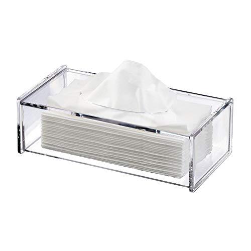 discoball Taschentuch Aufbewahrungsbox Papiertuch Behälter Kosmetiktücherbox Tissue Box Handtücher Spender Halter Transparent Acryl Rechteckig ca. 26.7 x 13 x 8.5 cm
