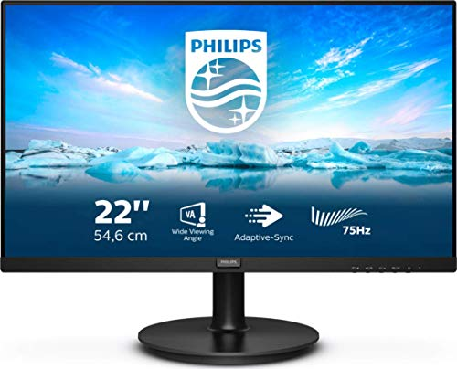 Philips Monitors 221V8LD/00-22 Full HD, 75Hz, VA, Adaptive Sync (1920x1080, 250 CD/m, HDMI 1x1.4)