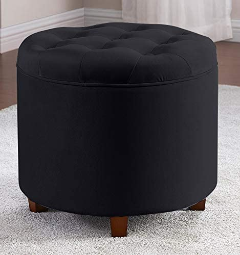 depot Ornavo Home Donovan Round Tufted Storage Dealing full price reduction Ottoman Velvet Res Foot