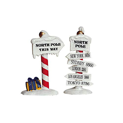 Lemax Christmas - North Pole Signs Set of 2 (64455)