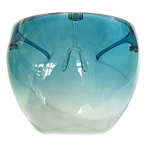 Futuristic Sun Shield Visor Gafas de sol de gran tamaño teñidas para hombres y mujeres parasol uv400