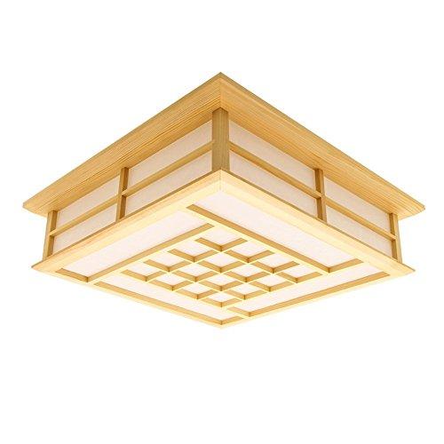LYXG 18 W lumière chambre d'étude éclairage LED lampe de plafond en bois tatami japonais (350mm*350mm*120mm), la lumière blanche
