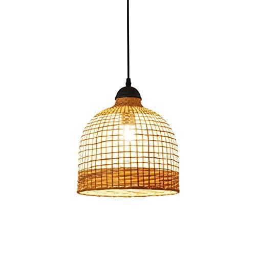 Lámpara de araña decorativa de bola de cáñamo creativa Lámpara colgante de hierro forjado minimalista moderna Lámpara de noche para dormitorio * 1 Interruptor de botón ajustable en altura, Una buena