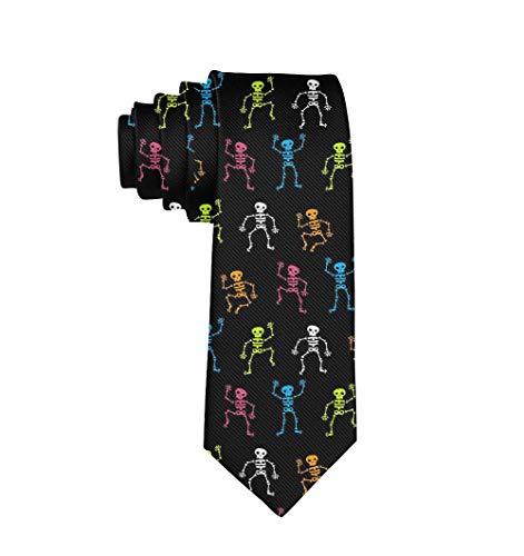 YoungbG Corbatas de Hombre Corbata clsica de polister para Hombre, Informal, Formal, Elegante, Colorida, Corbata de Esqueleto para Boda, Fiesta, graduacin de Negocios