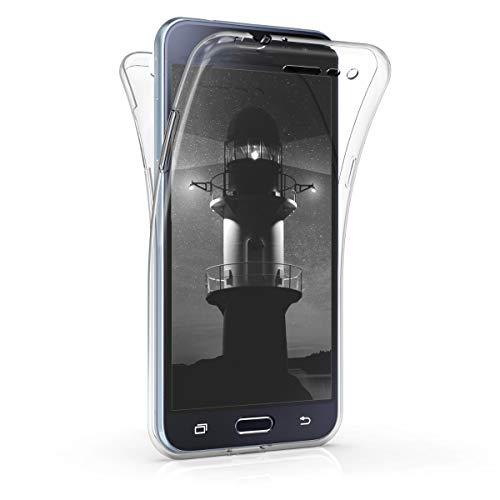 kwmobile Hülle kompatibel mit Samsung Galaxy J3 (2016) DUOS - Silikon Komplettschutz Handy Cover Case Schutzhülle Transparent