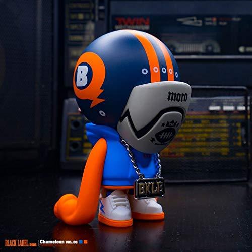 MMZ POP Figur!Black Label Chameleon (Helm) VOL.6 Auto-Dekoration PVC-Action-Figur Spielzeug/Haus-Auto-Dekor/Sammlung Figuren Geschenke for Dekoration 3.9