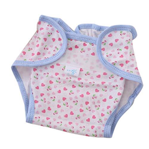 Wiederverwendbare Vollbaumwolle Neugeborenes Baby Naturwindeln Stoff Komfortabel 6 Schichten Waschbar Babypflegebedarf Weiß Buntes Herz Bunt