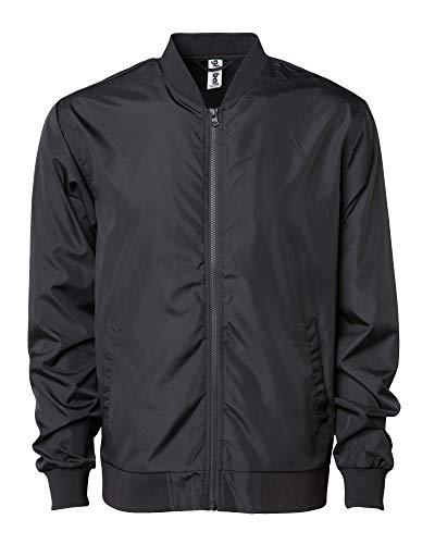 Global Blank Men's Slim Fit Lightweight Zip-Up Softshell Flight Bomber Jacket