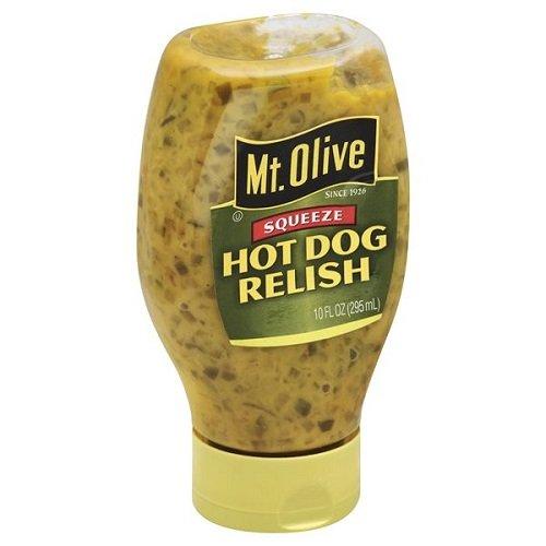 Mt. Olive Hot Dog Relish Squeeze Bottle 10 oz (Pack of 3)