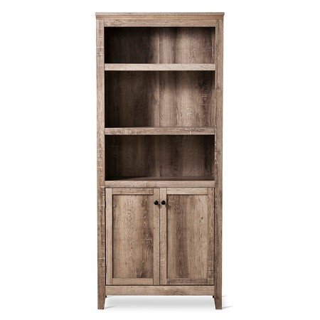 "72"" Carson 5 Shelf Bookcase with Doors Rustic - Threshold™"