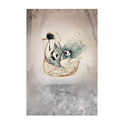 ganlanshu Rahmenlose Malerei Kaninchen Mädchen Gentleman Junge Haus Wand Leinwand dekorative Kunst Poster Home DecorationAY5321 60X90cm