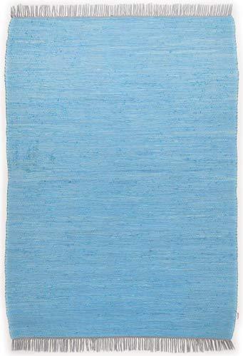 Tom Tailor Teppich Cotton Colors, Uni, türkis 140cm x 200cm türkis