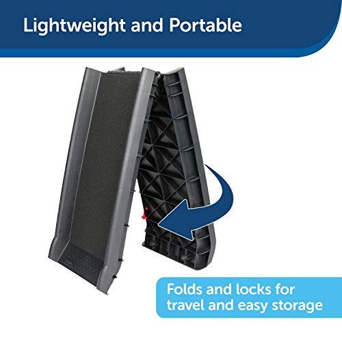 PetSafe Solvit UltraLite Bi-Fold Pet Ramp, 62 in, Portable Lightweight Dog and Cat Ramp, Great for Cars, Trucks and SUVs