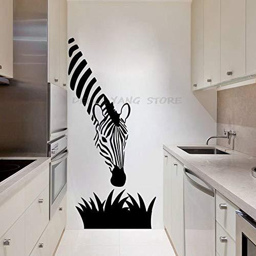 yaofale Zebra Wandtattoos Werden für die Moderne Kunstdekoration Ihres Küchenschlafzimmers oder Wohnzimmers verwendet, Zebra Wandtattoos Kunstwandbilder