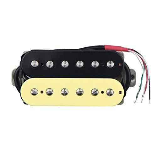 FLEOR Juego de pastillas Humbucker de doble bobina, cuello de 50 mm y puente de 52 mm, pastilla Alnico 5, imán para guitarra eléctrica, pieza Humbucker, Zebra