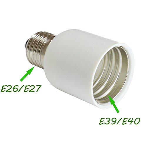 E26/E27 Medium Edison Screw - E39/E40 Mogul Base Light Bulb Socket Lamp Enlarger Converter Adapter (1pcs/Pack)