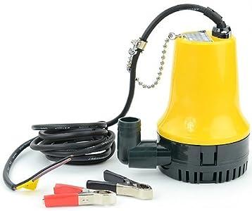 Sutekus - Bomba sumergible pequeña de 12 V para bombeo y drenaje de agua de mar (4200 L/H)