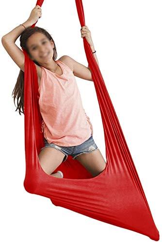 Kcanamgal Columpio Hamaca Colgante Silla Cama Colgante Pod para Niños Niños Jardín Exterior Interior,Rojo
