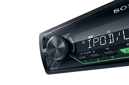 Sony DSX-A212UI MP3 Autoradio (mit Extrabass, USB, AUX Anschluss und iPod/iPhone Control Funktion) Beleuchtung: grün