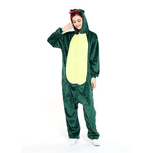 Animal Onesie Women Men Dinosaur Green Costume Pajamas Halloween Onesies