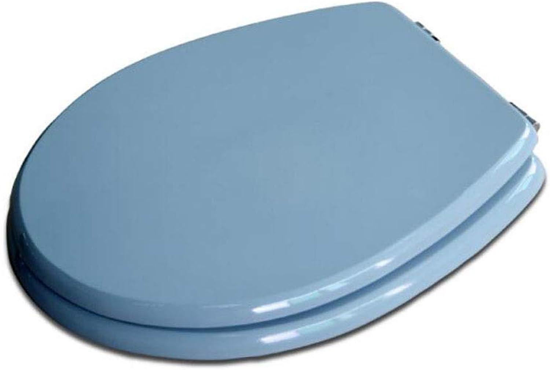 TOILETLIDgg WC-Sitz mit antibakteriellem MDF Nicht verlangsamt stummgeschützter, unten anliegender O-Form-Toilettendeckel für Erwachsenen-WC-Sitz Schnellwechsel-Toilettensitz