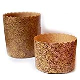 ARCOBALENOPARTY 5 moldes para panettone de 1500 g, de papel de horno desechable, ideal para panettones, panettone gastronómico, dulces navideños, pan brioche, canasta, pan dulce, 5 unidades de 1,5 kg