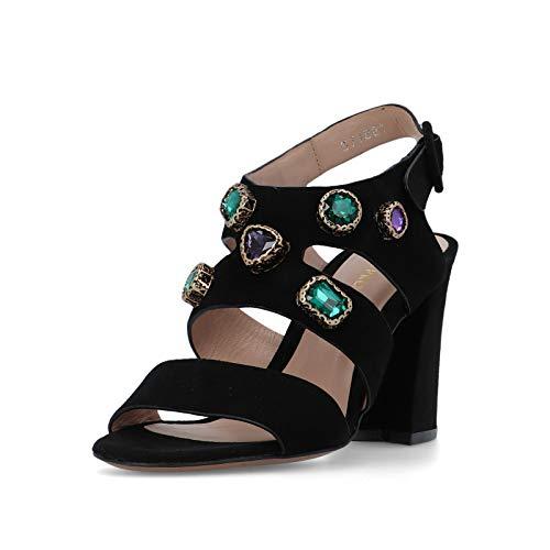 Bruno Premi PLU Jow BZ3801 BPRCONNRVVR Sandales pour femme - Noir - Noir, violet, vert, 39 EU EU