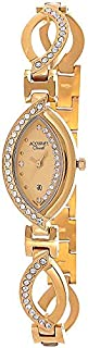 Accurate Choral Women's Gold Dial Metal Band Watch - ALQ 310S