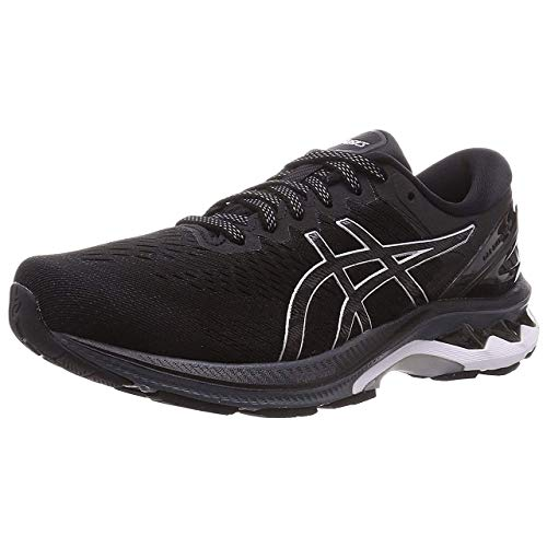 ASICS Mens Gel-Kayano 27 Running Shoe, Black Pure Silver,44.5 EU