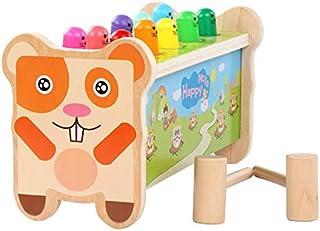 BeebeeRun Montessori drewniana zabawka, młotkowa zabawka dl