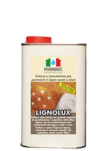 Marbec - LIGNOLUX 1LT   Finitore manutentore per Pavimenti in Legno oliati o cerati