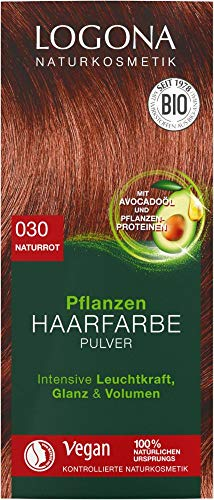 Logona Bio Pflanzen Haarfarbe Pulver 030 naturrot (6 x 100 gr)
