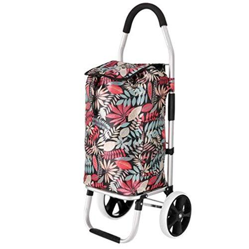HHTD Trolley, Compras Carrito de Compras Plegable (Color : Multi-Colored)